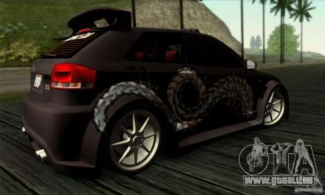 Audi A3 Tunable für GTA San Andreas obere Ansicht