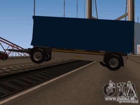 Trailer für MAN TGA 28430 PALIFT für GTA San Andreas linke Ansicht