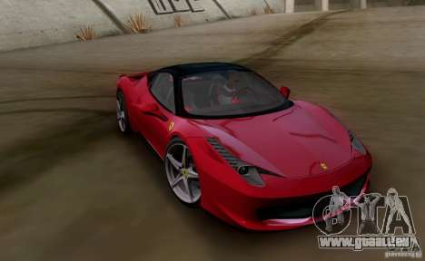 Ferrari 458 Italia V12 TT Black Revel pour GTA San Andreas