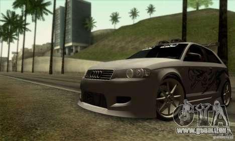 Audi A3 Tunable pour GTA San Andreas vue de dessous