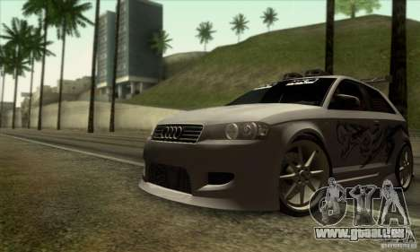 Audi A3 Tunable für GTA San Andreas Unteransicht