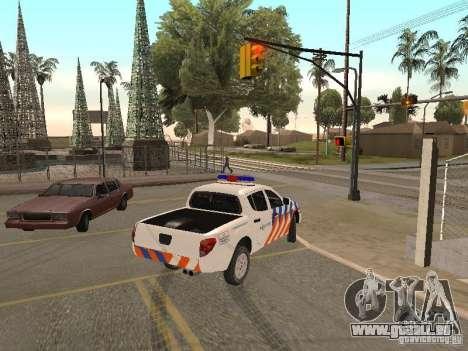 Mitsubishi L200 Police für GTA San Andreas zurück linke Ansicht