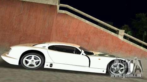 TVR Cerbera Speed 12 pour une vue GTA Vice City de l'intérieur
