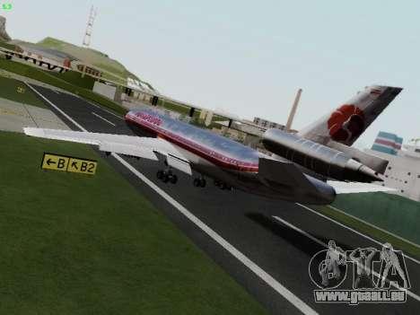 McDonell Douglas DC-10-30 Hawaiian pour GTA San Andreas laissé vue