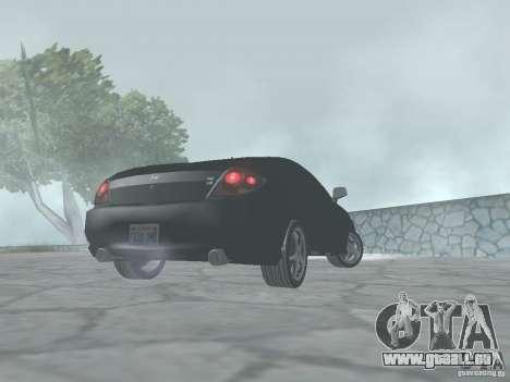 Hyundai Tiburon GT pour GTA San Andreas sur la vue arrière gauche