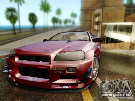 Nissan R34 Skyline GT-R für GTA San Andreas Rückansicht