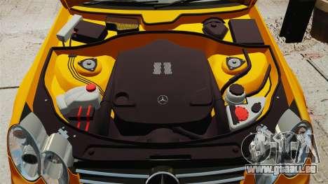 Mercedes-Benz CLK 55 AMG pour GTA 4 est une vue de l'intérieur