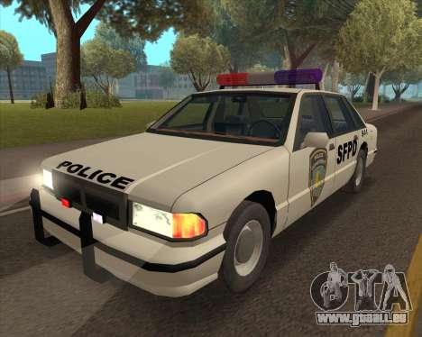 Updated SFPD pour GTA San Andreas sur la vue arrière gauche