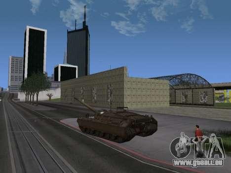 PT-SAU T95 pour GTA San Andreas sur la vue arrière gauche