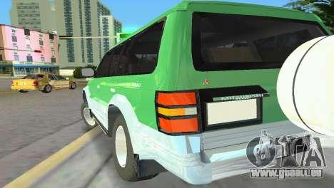 Mitsubishi Pajero 1993 pour GTA Vice City vue arrière