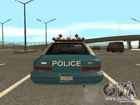HD Police from GTA 3 pour GTA San Andreas vue intérieure