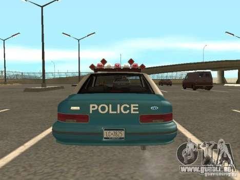 HD Police from GTA 3 für GTA San Andreas Innenansicht