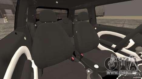 Mini Cooper S v1.3 pour GTA 4 est une vue de l'intérieur