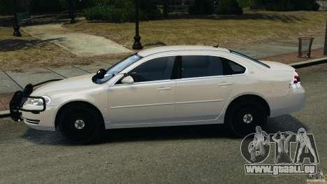 Chevrolet Impala Unmarked Detective [ELS] pour GTA 4 est une gauche
