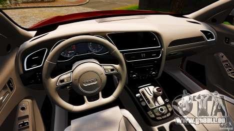Audi RS4 Avant 2013 pour GTA 4 Vue arrière