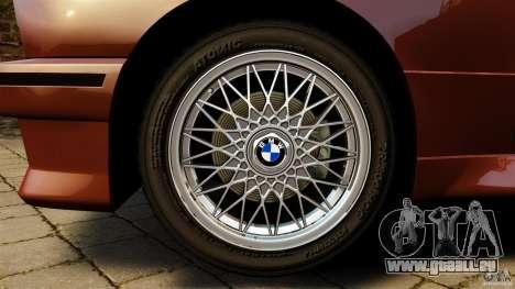BMW M3 E30 Stock 1991 pour GTA 4 Vue arrière