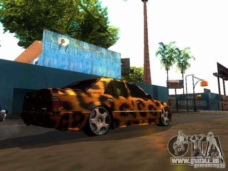 Mercedes-Benz E500 Leopard pour GTA San Andreas laissé vue