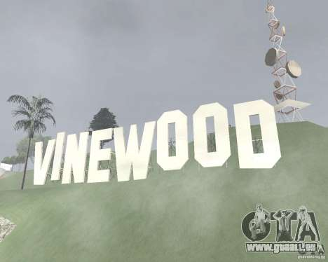 Zone réglementée Vinewood pour GTA San Andreas