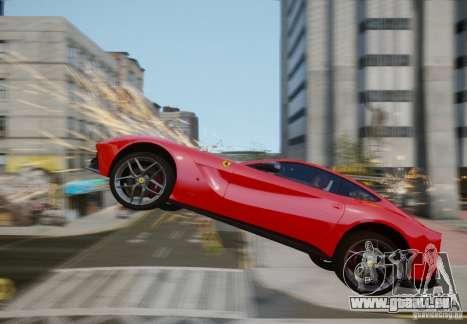 Ferrari F12 Berlinetta 2013 pour GTA 4 vue de dessus