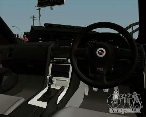 Nissan Skyline GTR R34 pour GTA San Andreas vue de côté
