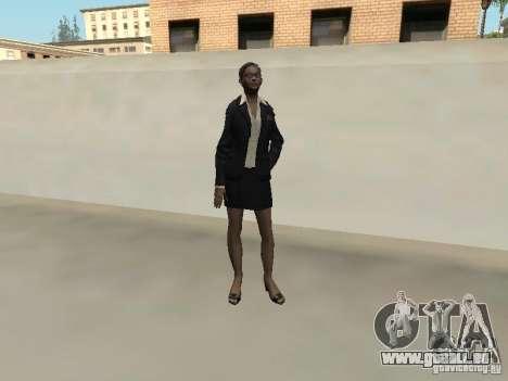 F.B.I peau féminine pour GTA San Andreas quatrième écran