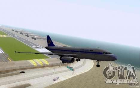 Airbus A-319 Azerbaijan Airlines pour GTA San Andreas vue de dessus
