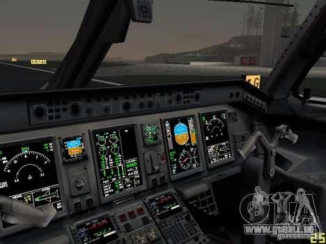 Embraer ERJ 190 USAirways für GTA San Andreas obere Ansicht