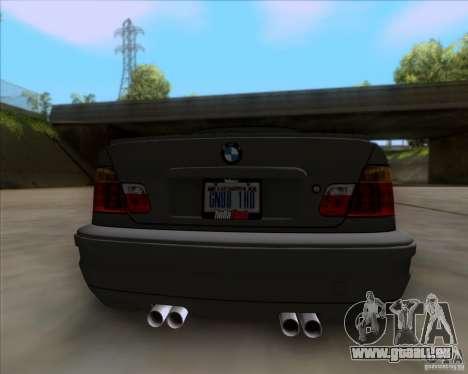 BMW 3-er E46 Dope pour GTA San Andreas vue arrière