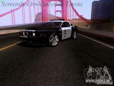 Ford Mustang GT 2011 Police Enforcement für GTA San Andreas zurück linke Ansicht