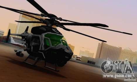AH-2 Сrysis 50 C.E.L.L. hélicoptère pour GTA San Andreas vue intérieure