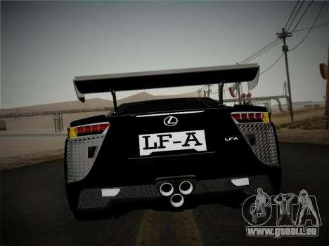 Lexus LFA Nürburgring Edition für GTA San Andreas rechten Ansicht