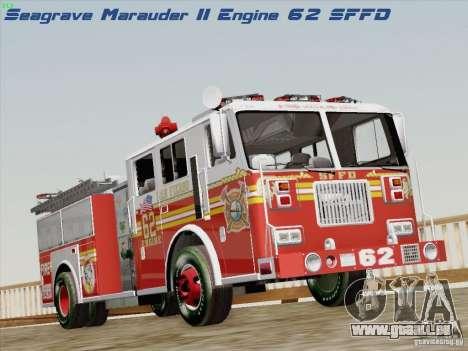 Seagrave Marauder II Engine 62 SFFD pour GTA San Andreas