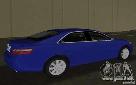 Toyota Camry 2007 für GTA Vice City zurück linke Ansicht