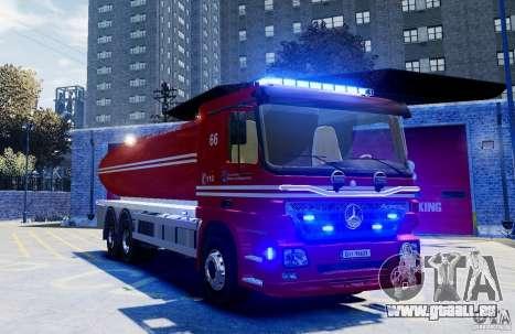Mercedes-Benz Vanntankbil / Water Tanker für GTA 4 rechte Ansicht