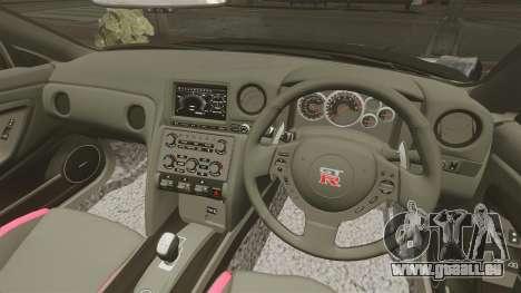 Nissan GT-R Black Edition (R35) 2012 pour GTA 4 est une vue de l'intérieur