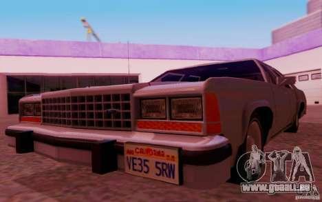 Ford Crown  Victoria LTD 1985 pour GTA San Andreas vue intérieure