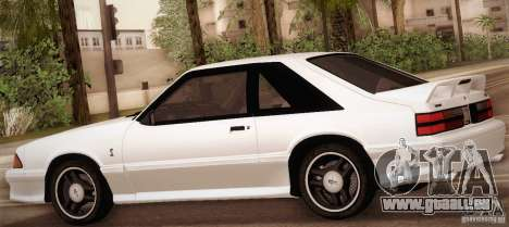 Ford Mustang SVT Cobra 1993 für GTA San Andreas Unteransicht