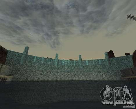 La nouvelle structure du barrage pour GTA San Andreas quatrième écran