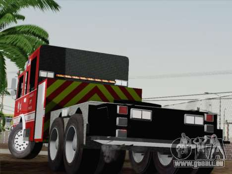 Pierce Arrow XT LAFD Tiller Ladder Truck 10 für GTA San Andreas zurück linke Ansicht