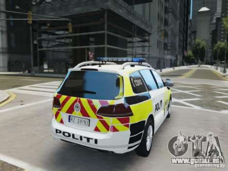 Volkswagen Passat B7 Variant 2012 pour GTA 4 est un droit