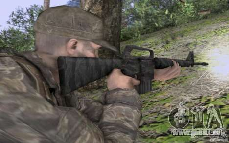 M16A1 Vietnam war pour GTA San Andreas deuxième écran