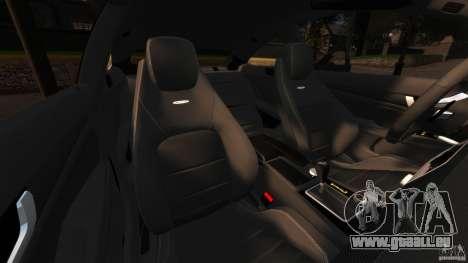 Mercedes-Benz C 63 AMG pour GTA 4 est une vue de l'intérieur