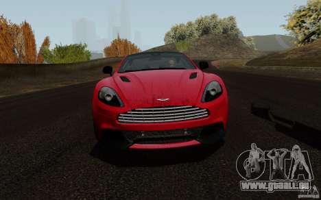 Aston Martin Vanquish 2012 pour GTA San Andreas laissé vue
