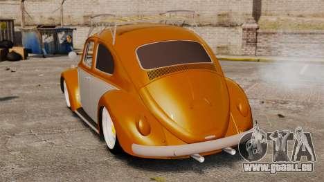 Volkswagen Fusca Edit pour GTA 4 Vue arrière de la gauche