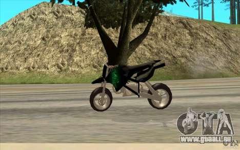 Black Rockstar Moto Cross pour GTA San Andreas sur la vue arrière gauche