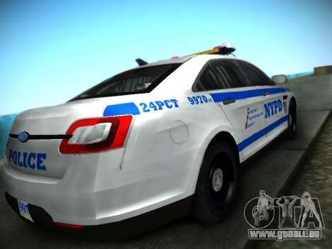 Ford Taurus NYPD 2011 für GTA San Andreas linke Ansicht