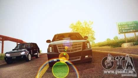 Cadillac Escalade ESV 2012 pour GTA San Andreas vue intérieure