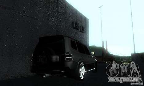 Mitsubishi Pajero FBI pour GTA San Andreas laissé vue
