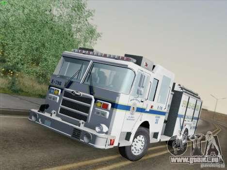 Pierce Pumpers. B.C.F.D. FIRE-EMS für GTA San Andreas zurück linke Ansicht