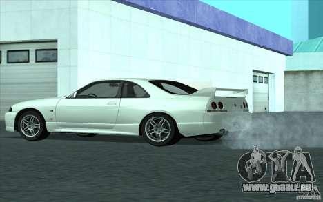 Nissan Skyline GT-R R-33 pour GTA San Andreas sur la vue arrière gauche